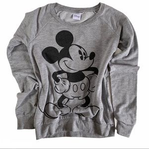 Disney Mickey Mouse grey long sleeve sweater